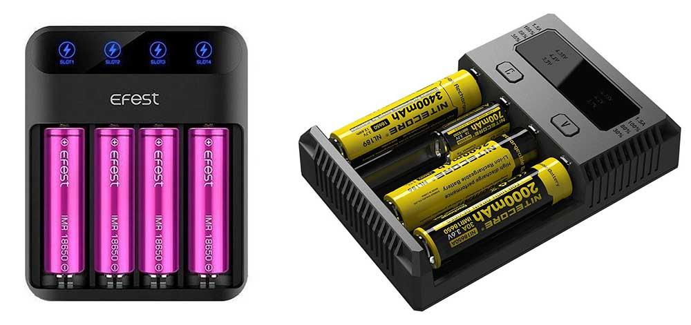 Зарядное устройство Nitecore и Efest